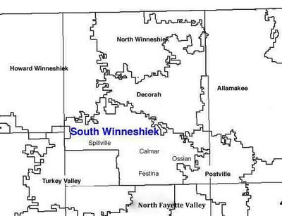Map of South Winneshiek School District