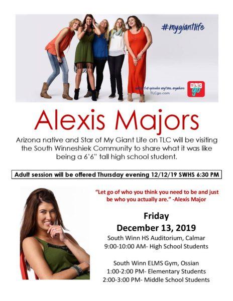 Alexis Majors is Coming to South Winneshiek